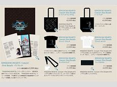New merchandise available for Kingdom Hearts Concert