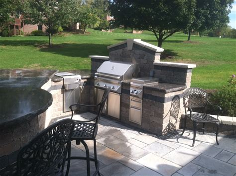 unilock outdoor kitchens outdoor kitchens bars and grills showcase allgreen inc