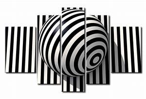 Tableau Photo Noir Et Blanc : toile murale noir et blanc tableau abstrait tableaux ~ Melissatoandfro.com Idées de Décoration