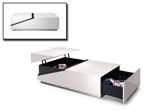 modern white table l modern white and black transformer coffee table columbus