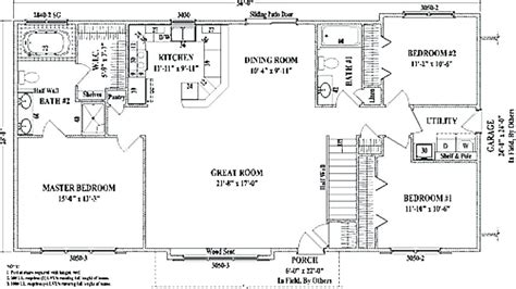 3 bedroom open floor plan ranch bedroom atc