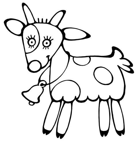 mewarnai gambar kambing untuk paud belajarmewarnai info