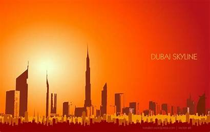 Dubai Skyline Wallpapers Vector Middle East Graphic