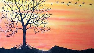 How to draw sunset with pastel - Return To Home - Time ...