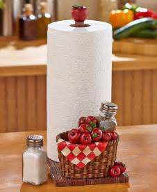 paper towel holder salt pepper set apples kitchen