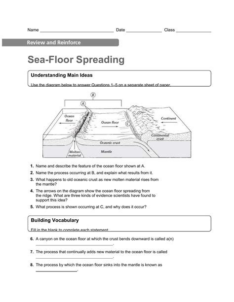 Sea Floor Spreading Worksheet Answers by Uncategorized Seafloor Spreading Worksheet