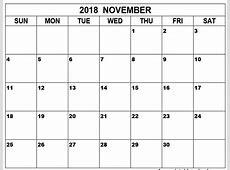 Printable Calendar November 2018 Australia – Printable