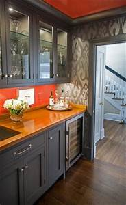 25 best ideas about orange kitchen decor on pinterest With kitchen cabinets lowes with orange and blue wall art