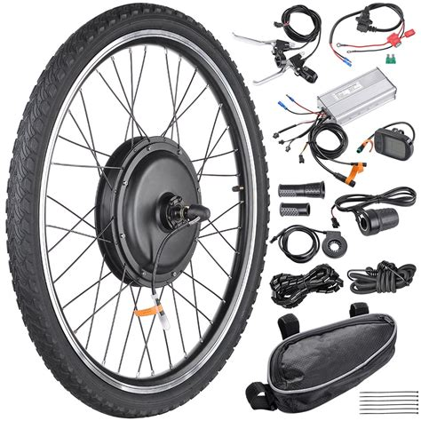 48v1000w 26 quot front rear wheel electric bicycle motor kit e bike conversion kit ebay
