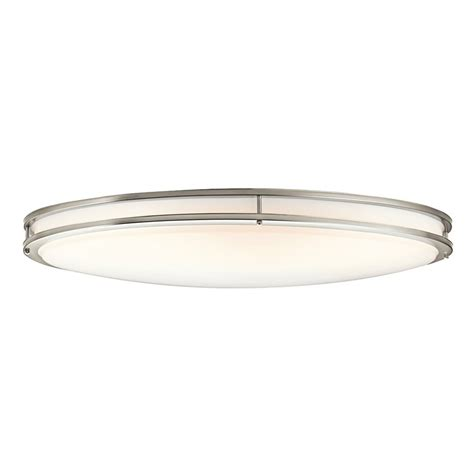shop kichler verve 32 5 in w brushed nickel flush mount