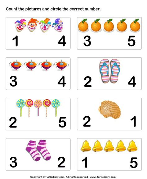 Number Matching Worksheet 6  Preschool Math  Pinterest  Count, Numbers And Pictures