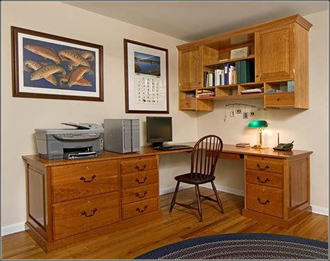 Diy Corner Desk With File Cabinets by Diy Desk With Filing Cabinets Home Design Ideas
