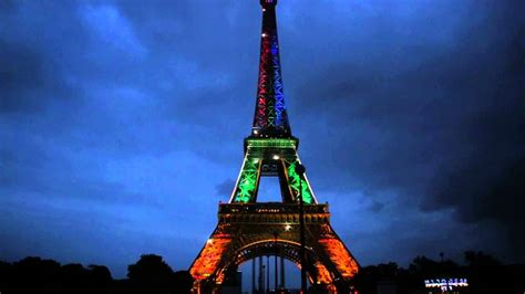 eiffel tower color eiffel tower in southafrica flag colors