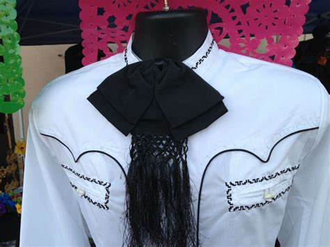 Mexican Charro and Mariachi Black Adult Bow Tie From Mex