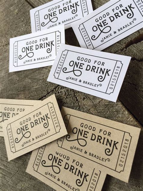 wedding drink  redeem   drink coupon party