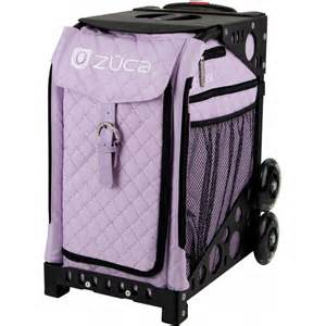 rolling bat bags zuca sport quilted lilac sit on rolling kit bag frame