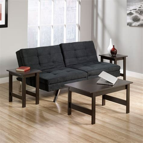 sauder durant sofa with 3 piece table set multiple colors