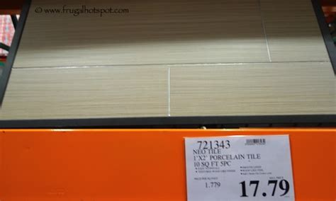 costco sale neo tile groove light grey porcelain tile 10 sq ft frugal hotspot
