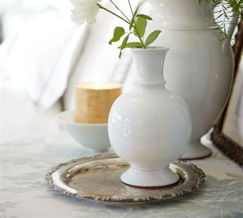 rustic white vases pottery barn