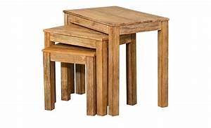 Beistelltisch Garten Holz : beistelltisch 3er set holz trebosco m bel h ffner ~ Indierocktalk.com Haus und Dekorationen
