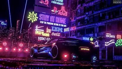Cyberpunk Neo Wallpapers Racecar Generation Nasscar 4k