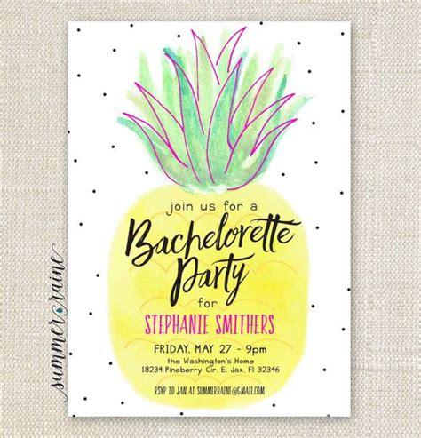 pineapple bachelorette invitation printable diy