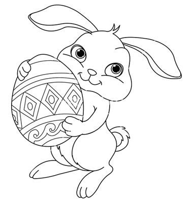simple easter bunny coloring pages google search