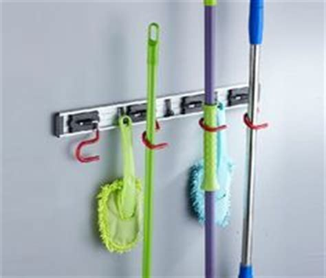 NEW Wall Mounted Bathroom Mop & Broom Holder Home Cleaning