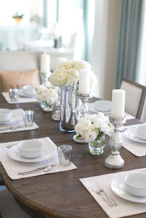Trendy Dining Table Decoration Entranching Centerpieces