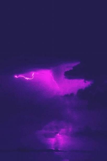 Aesthetic Purple Lightning Flash Anime Lavender Dept