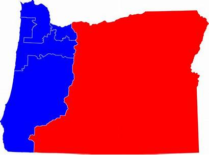 Oregon Congressional Congress Districts Clipart District State