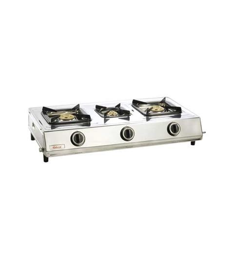 Gilma Sarpker 3 Burner Auto Gas Cooktop Price in India