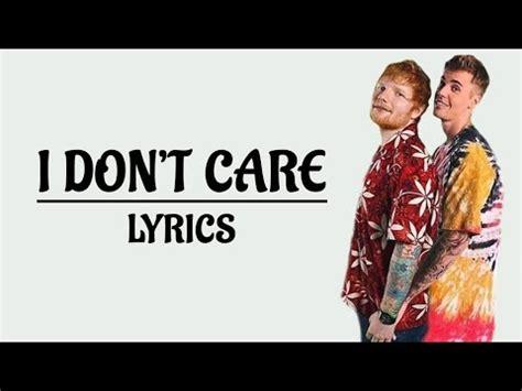 ed sheeran  dont care lyrics ft justin bieber
