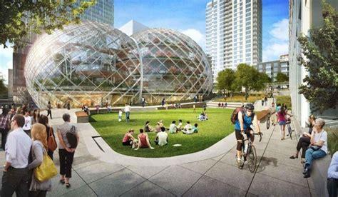 siege social amazon amazon soffre un siège social futuriste et écolo en bulles