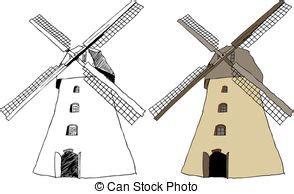 windmill clipart  stock illustrations  windmill