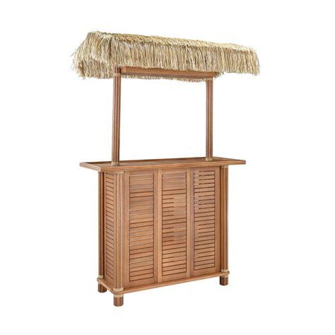 home styles bali hai outdoor patio tiki bar table 5662 99