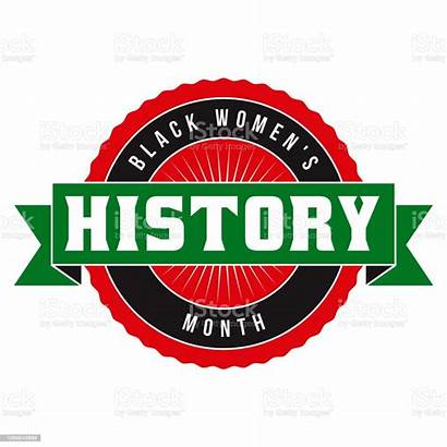 History Month Vector Label Clip Illustrations Womens