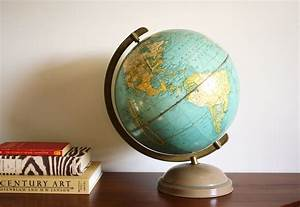 RESERVED FOR PIA Vintage 1950 globe Cram's Universal
