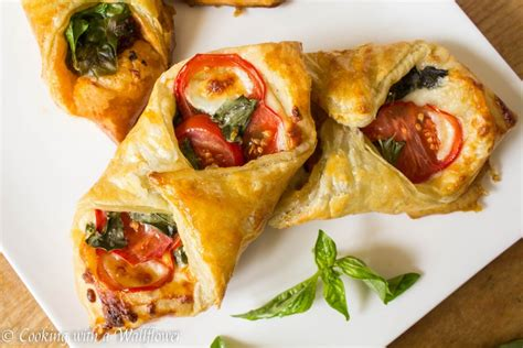 pastries tomato breakfast basil phyllo morning eat cheese dough puff recipe often filled wallflower cooking cookingwithawallflower