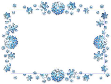 Transparent Background Snowflake Border by Free Illustration Frame Border Card Free Image