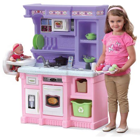 step  bakers kids play kitchen   piece food