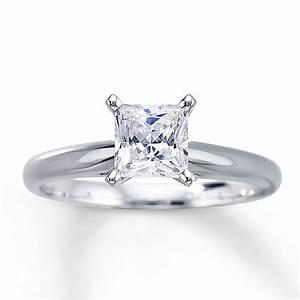 Kay - Diamond Solitaire Ring 1 carat Princess-cut 14K ...