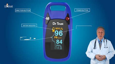 Dr Trust USA Fingertip Pulse Oximeter - Professional