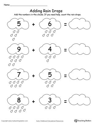 adding numbers with drops up to 13 102 | Adding Numbers with Rain Drops Up to 13