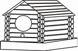 Cabin Coloring Log Pages Birdhouse Woods Clipart Template Clip Sketch Clipartbest Cliparts sketch template