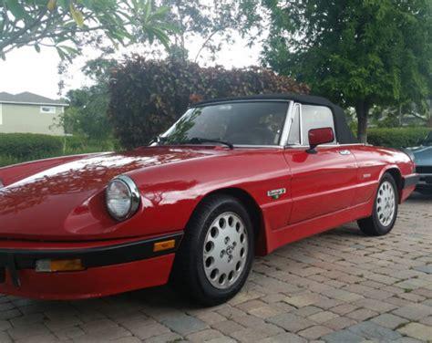 Alfa Romeo United States by 1988 Alfa Romeo Spider Quadrifoglioverde Fully Restored