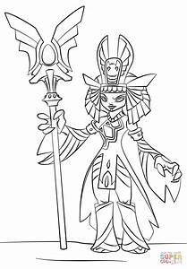 Skylanders Trap Team Golden Queen coloring page   Free ...