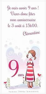 Invitation Anniversaire Fille 9 Ans : invitation anniversaire ado gratuit a imprimer love message ~ Melissatoandfro.com Idées de Décoration