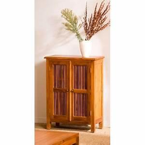 Meuble Persienne : meuble 2 portes persiennes teck meubles macabane meubles et objets de d coration ~ Melissatoandfro.com Idées de Décoration