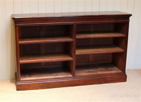 Victorian Low Open Mahogany Bookcase